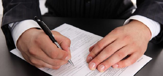 Подписание акта передачи прав на собственность